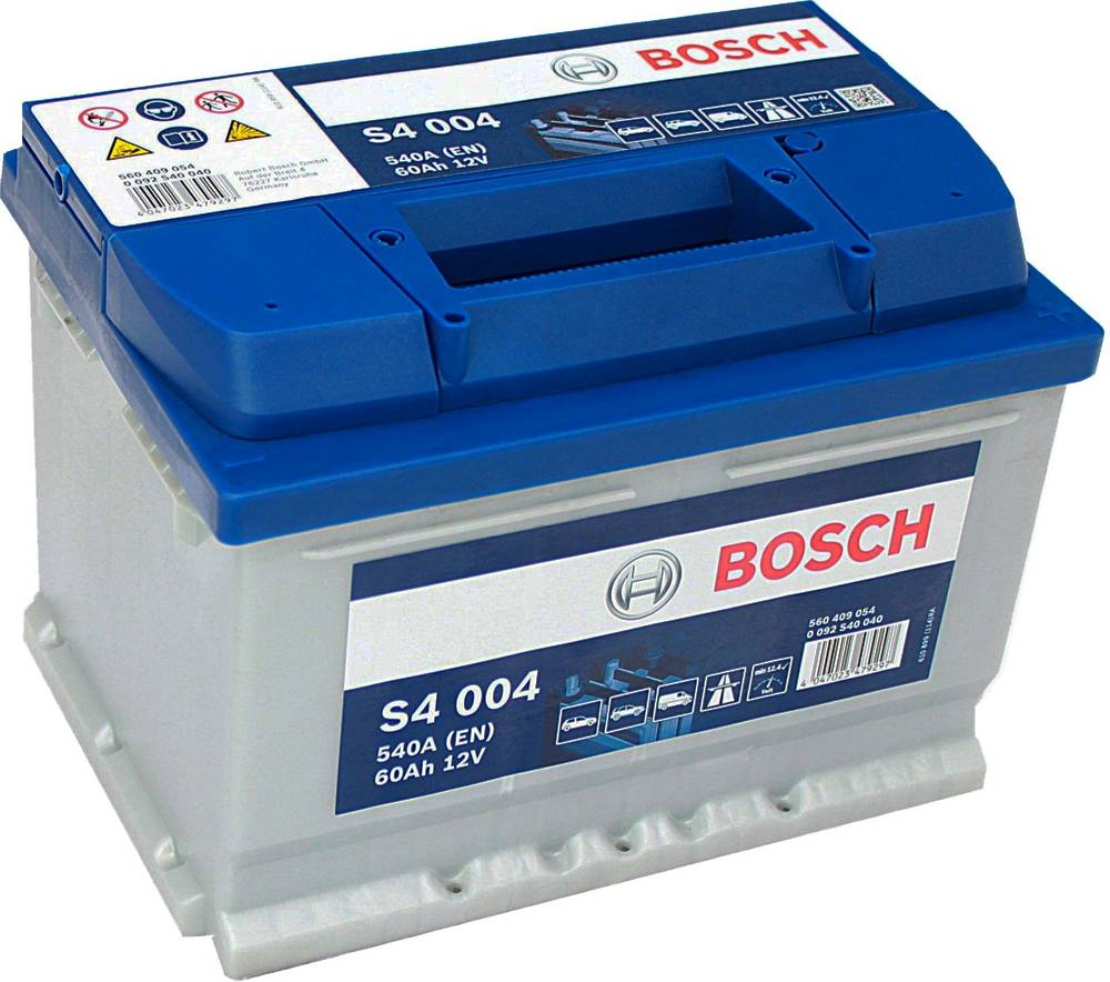 s4 004 bosch car battery 12v 60ah type 075 s4004 car batteries bosch car batteries. Black Bedroom Furniture Sets. Home Design Ideas