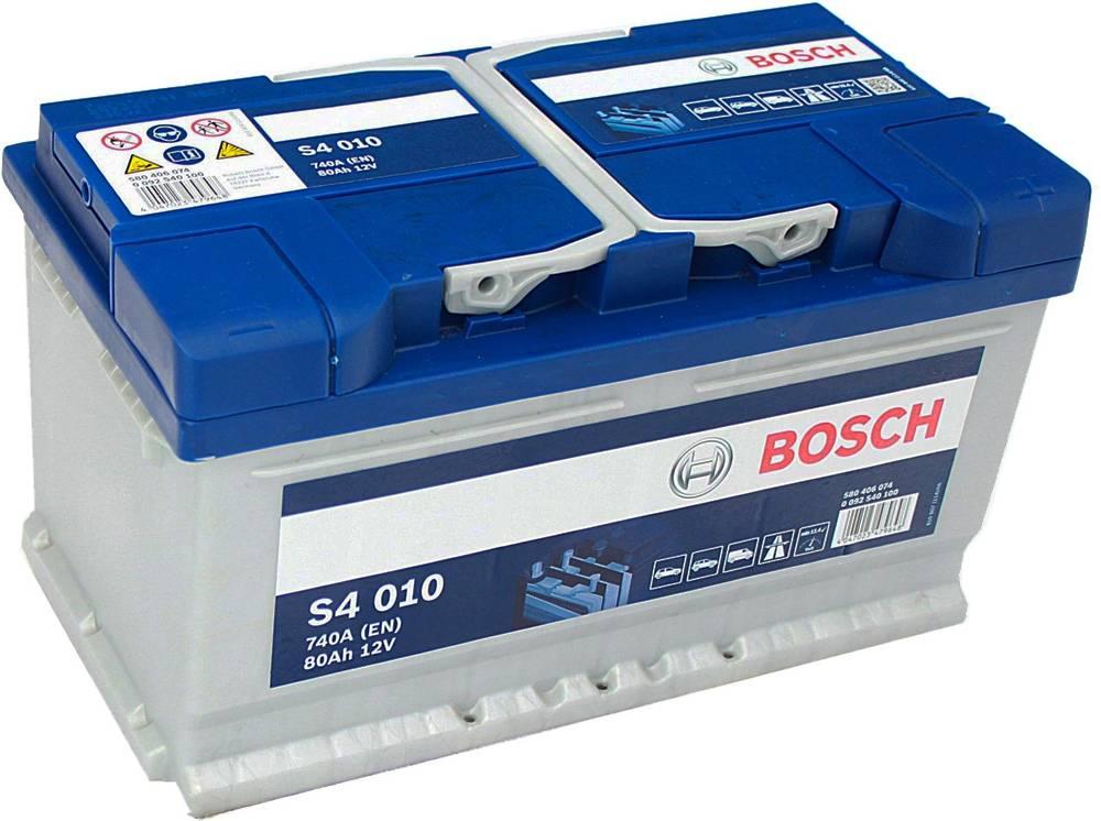s4 010 bosch car battery 12v 80ah type 110 s4010 car. Black Bedroom Furniture Sets. Home Design Ideas