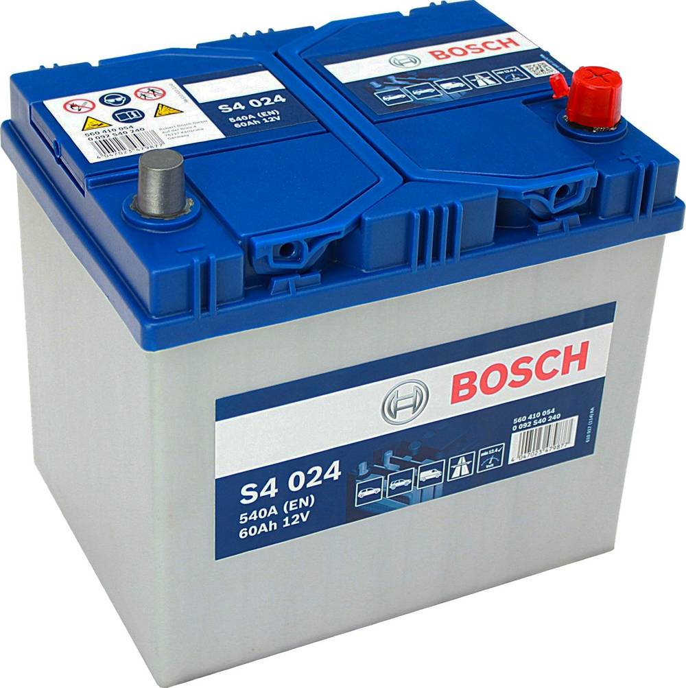 s4 024 bosch car battery 12v 60ah type 005l s4024 car batteries bosch car batteries. Black Bedroom Furniture Sets. Home Design Ideas