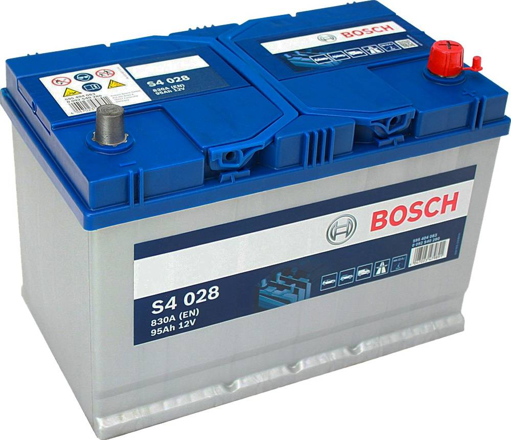 s4 028 bosch car battery 12v 95ah type 249 s4028 car. Black Bedroom Furniture Sets. Home Design Ideas