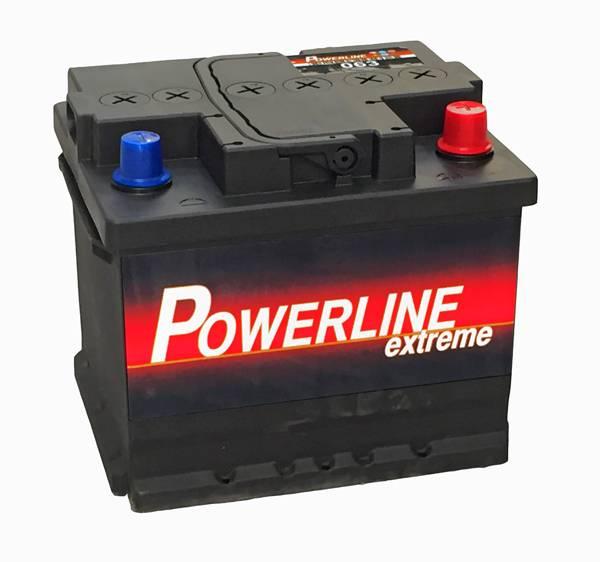 063 powerline car battery 12v 45ah car batteries. Black Bedroom Furniture Sets. Home Design Ideas