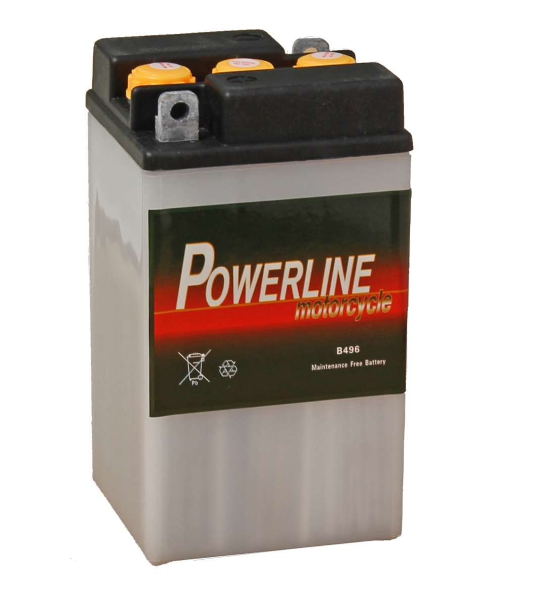 B49 6 Powerline Motorcycle Battery 6v 10ah B496