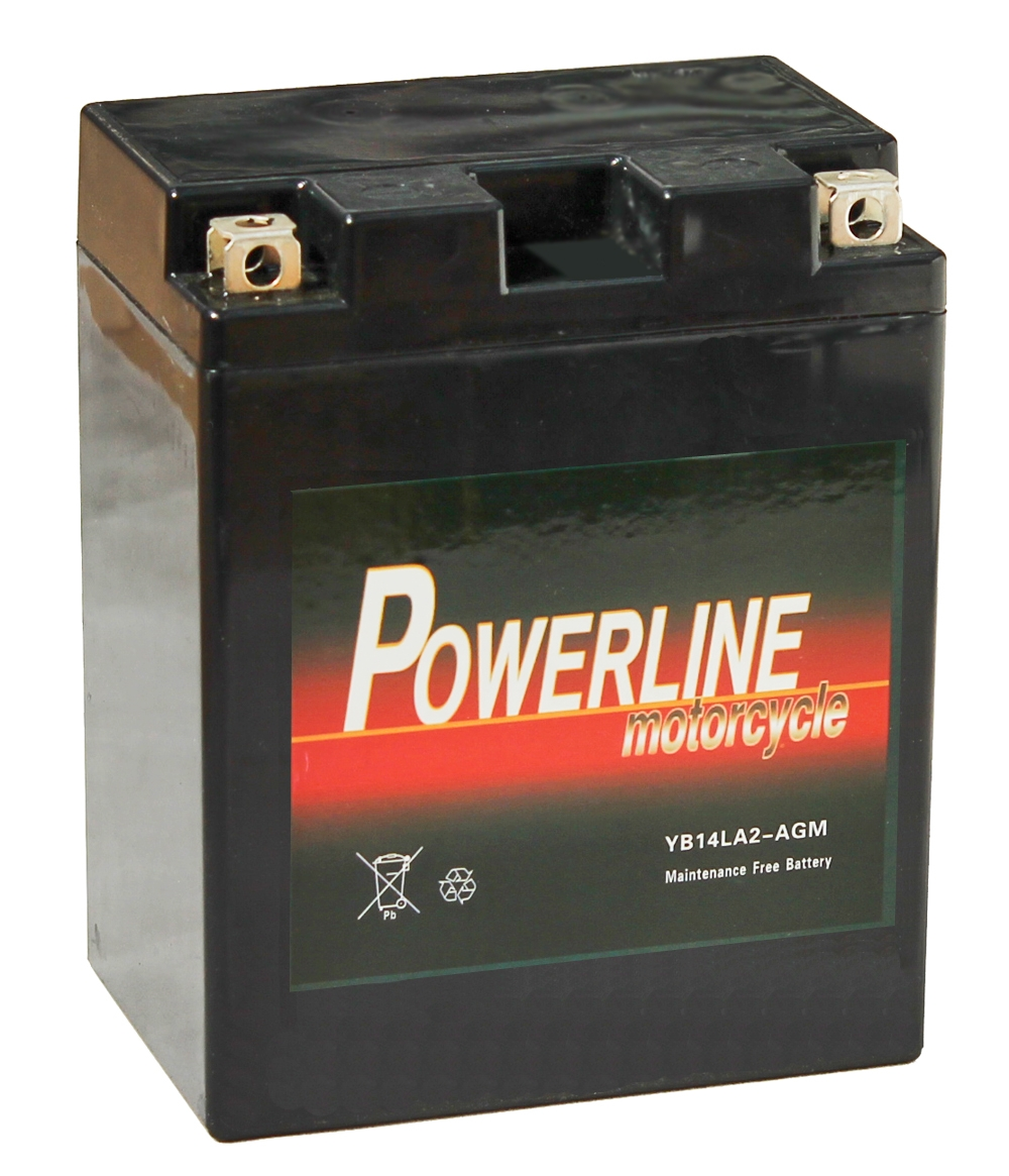 Yb14l A2 Agm Powerline Motorcycle Battery 12v 14ah Yb14la2