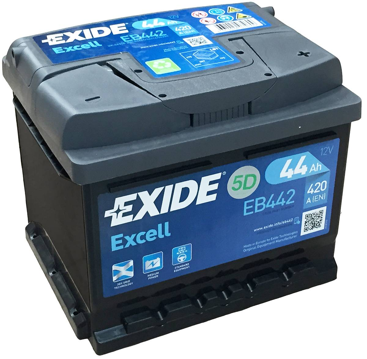 EB442 Exide Excell Car Battery 063SE - Car Batteries ...