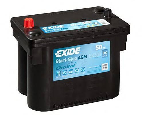 exide ek508 agm car battery 50ah car batteries exide car batteries. Black Bedroom Furniture Sets. Home Design Ideas