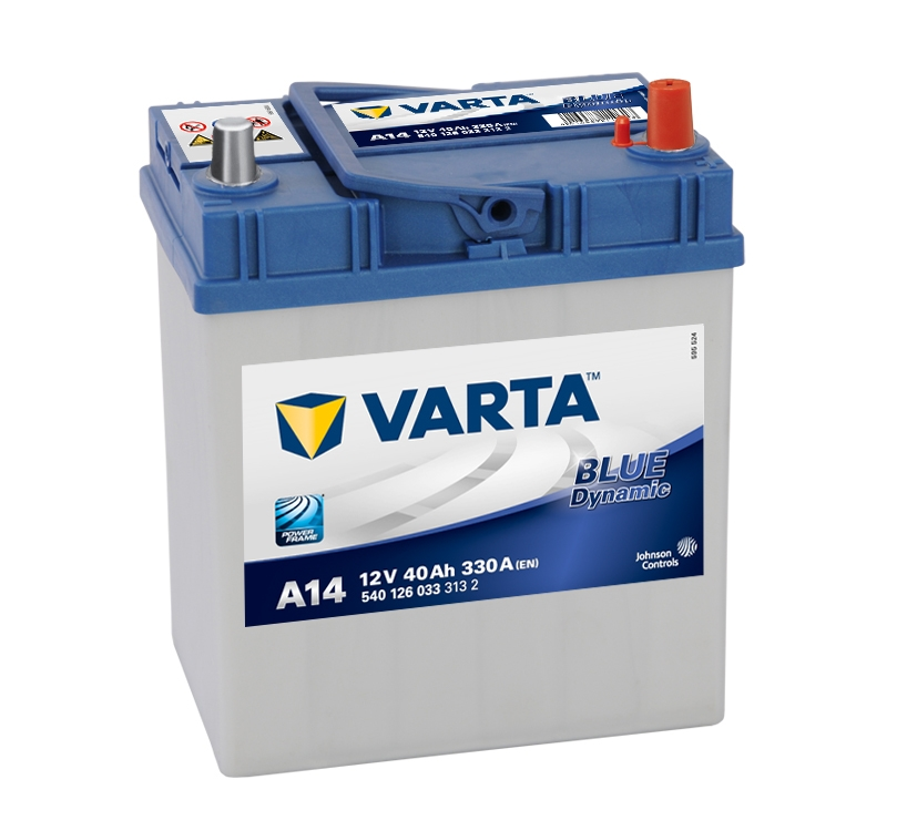a14 varta blue dynamic car battery 12v 40ah 540126033 054 car batteries varta car batteries. Black Bedroom Furniture Sets. Home Design Ideas