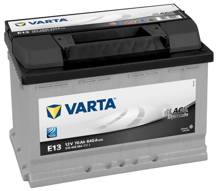 type 096 varta car battery 12v 70ah short code e13. Black Bedroom Furniture Sets. Home Design Ideas